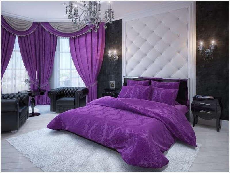 Giấc mơ về một căn phòng với chăn ga gối màu tím